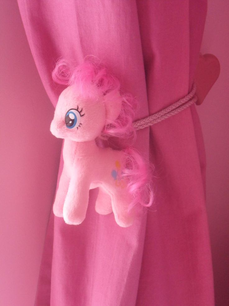 MY LITTLE PONY PINKIE PIE CHILDRENS BEDROOM CURTAIN TIE BACKS (pair)
