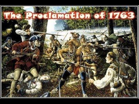 The  Proclamation of 1763 was on October 7, 1763, by King George the 3rd following Great Britain's French territory in North America after the end of the French and Indian War.
