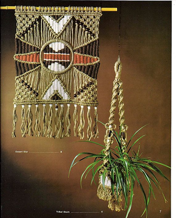 Macrame Weaving A Marriage of the Fiber Arts Pattern Book MM 138