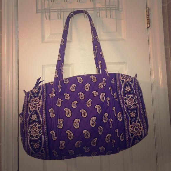 Vera Bradley duffel bag Purple brown and white duffel . Sturdy and spacious Vera Bradley Bags Travel Bags