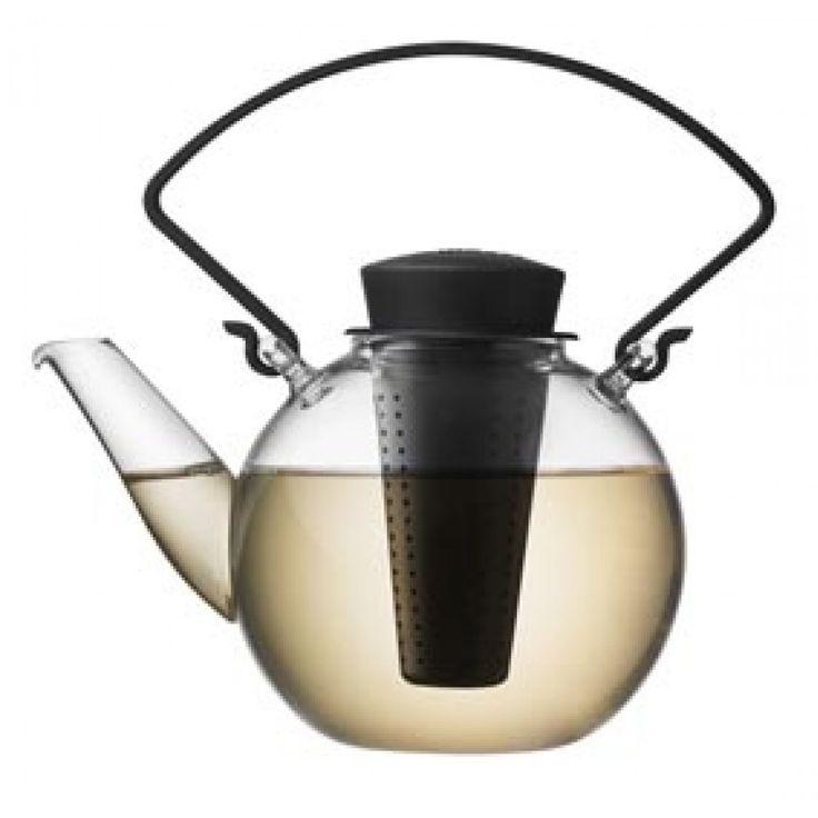Round Glass Teapot