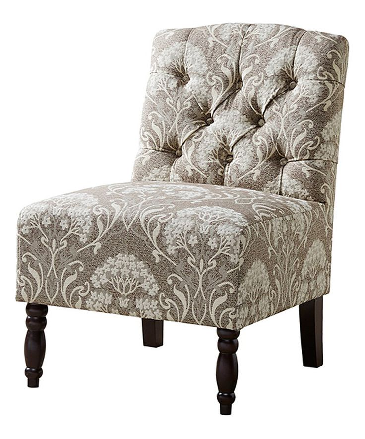 Another great find on #zulily! JLA Home Taupe Tufted Armless Chair by JLA Home #zulilyfinds