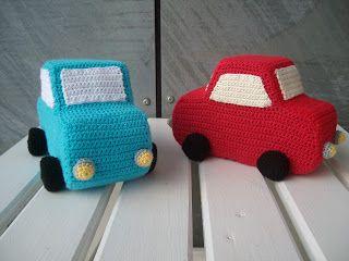 Tumlinger Krudtugler...: DIY - hæklet bil