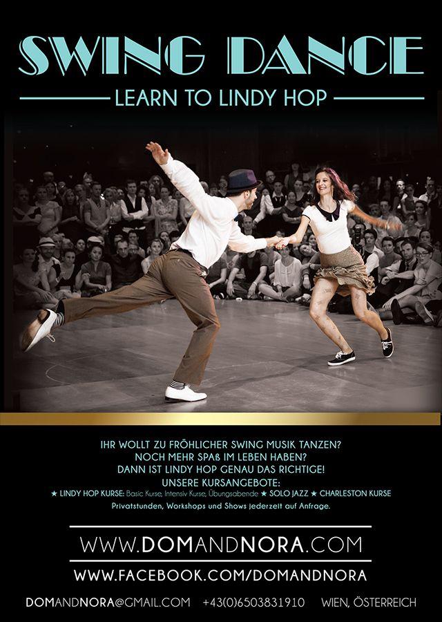dom  u0026 nora swing dance poster design by julija slavikas
