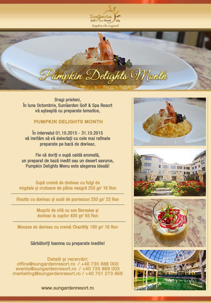 Pumpkin Delights Month - Sun Garden Resort