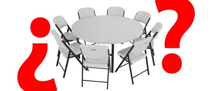 Muchas personas que contactan con nosotros para adquirir una mesa redonda plegable para eventos, nos hacen las mismas preguntas: ¿cuántas sillas plegables puedo poner alrededor de una mesa plegable redonda? Hoy os damos la respuesta.