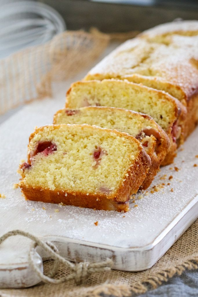 A simple Strawberry and Yoghurt Loaf that's perfect for school lunch boxes, afternoon snacks.. or even breakfast on the run!