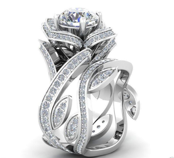 Museum 2 1tcw Russian Lab Diamond Fl Wedding Band Ring