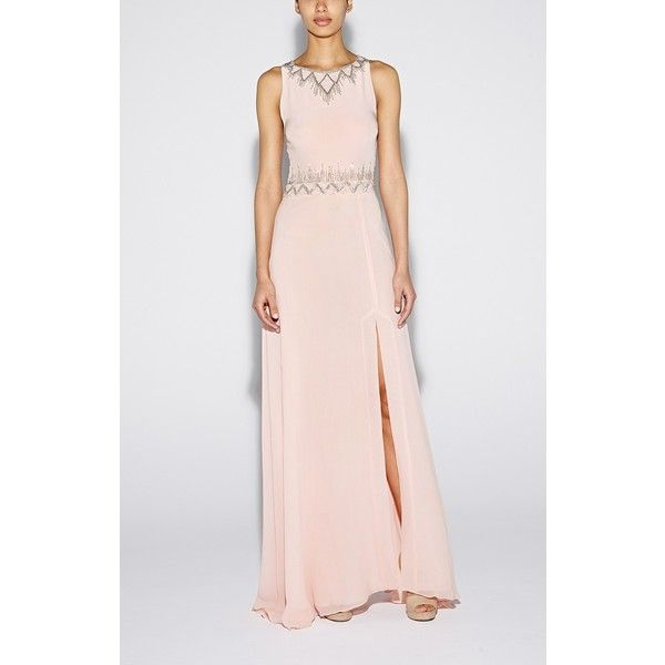 Nicole Miller Diamond Embellished Gown ($275) ❤ liked on Polyvore