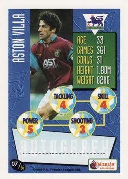 1996-97 Merlin's Premier League #7 Andy Townsend Back