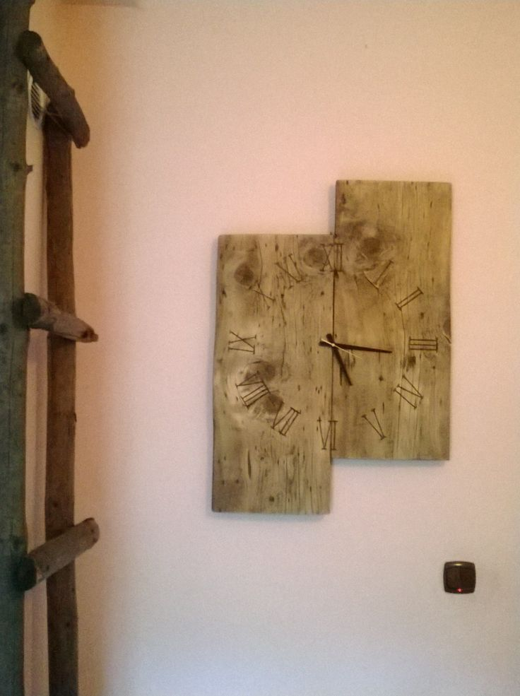 Click to view larger image and other views  Have one to sell? Sell it yourself Details about   Diy Wall clock. Made from a hundred year old wood. Fired numbers. Hand Made.   http://www.ebay.co.uk/itm/251530328018?ssPageName=STRK:MESELX:IT&_trksid=p3984.m1555.l2649
