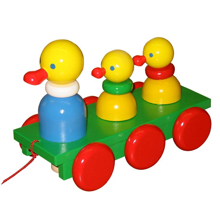 Wooden Pull Along Duck Family