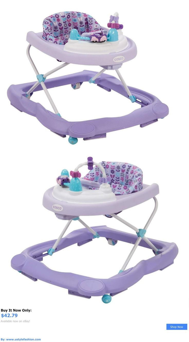 Baby walkers: Purple Girls Baby Walker Lights Sounds Toys Adjustable Infant Sturdy Safe BUY IT NOW ONLY: $42.79 #ustylefashionBabywalkers OR #ustylefashion