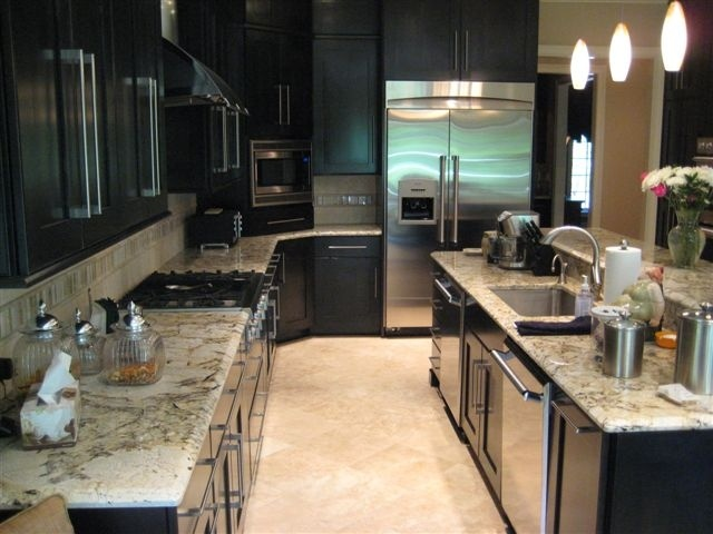 Persa Pearl Granite Kitchen Countertop With 1 1 4 Quot Bevel
