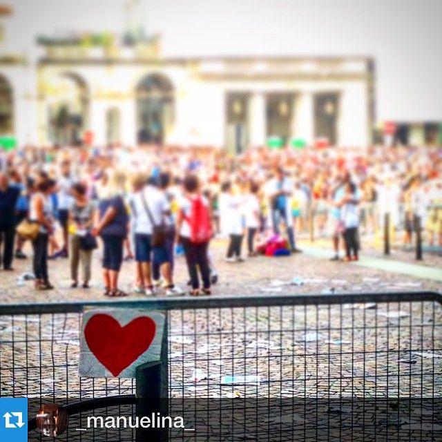 cittaditorino #Repost _manuelina_  #AmorePiuGrande #torino2015 #benvenuTOfrancesco #emozioni