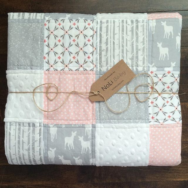 @nolibaby - Those fawns sweetest little woodland nursery quilt #hawthornthreads…