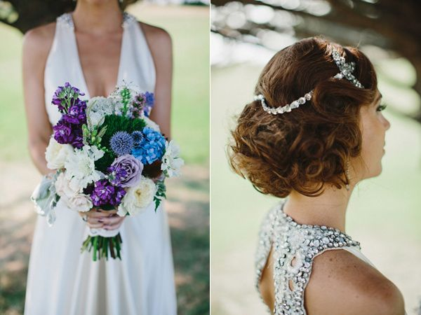 Colors of the flowers are spectacular! Rhode Island nautical wedding - shot by Lev Kuperman on Ruffled Blog