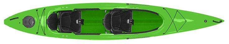 Wilderness System Pamlico Tandem Kayak is a tandem recreational kayak.  Built very durable, stable, and has a great glide.