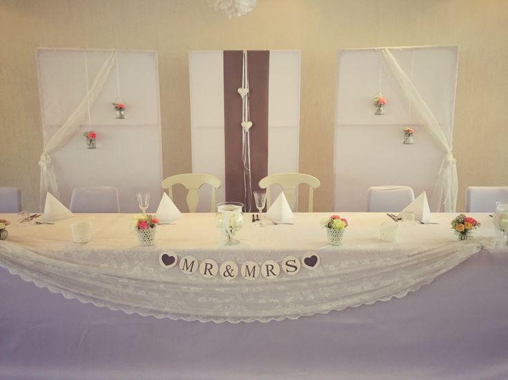 Wundersch Ner Brauttisch Mit Spitze Hochzeit In Vintage