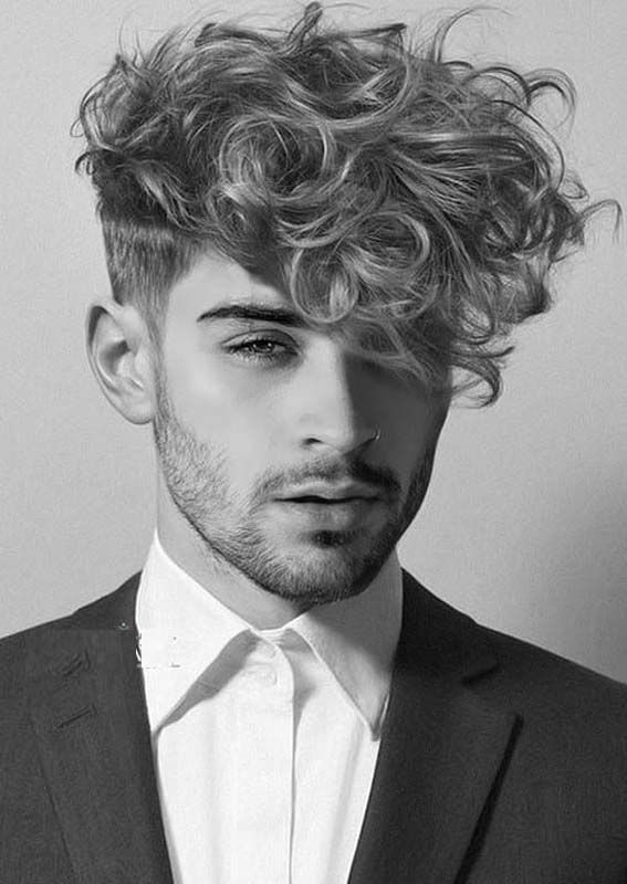 14 Amazing Curly Hairstyles For Boys To Show Off In 2019 Absurd Styles Zayn Malik Hairstyle Boy Hairstyles Curly Hair Styles
