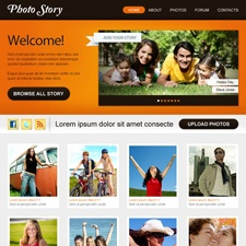 Unique  web 2.0 photography layout design PSD for sale on semantictemplates.com for only $50