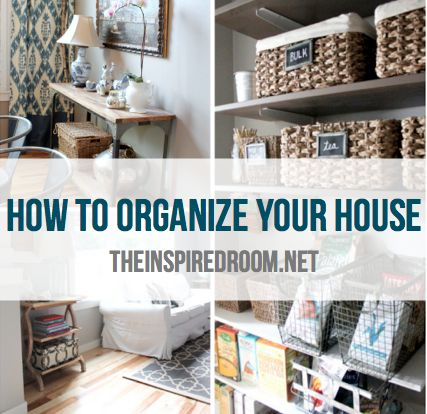 Great ideas on organizing your home