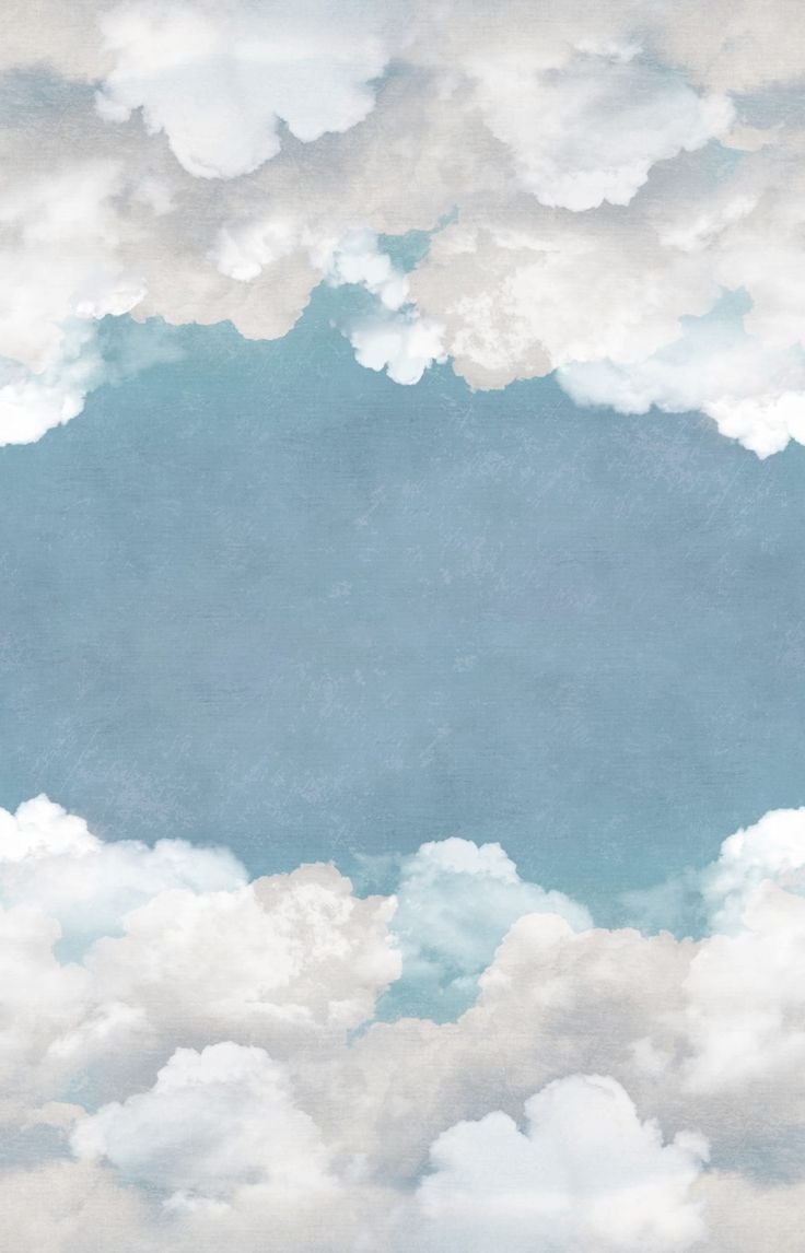 Cuddle Clouds, Ceiling in 2020 Painting wallpaper, Cloud