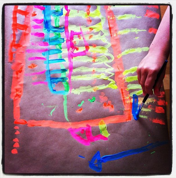 painting with neon paint