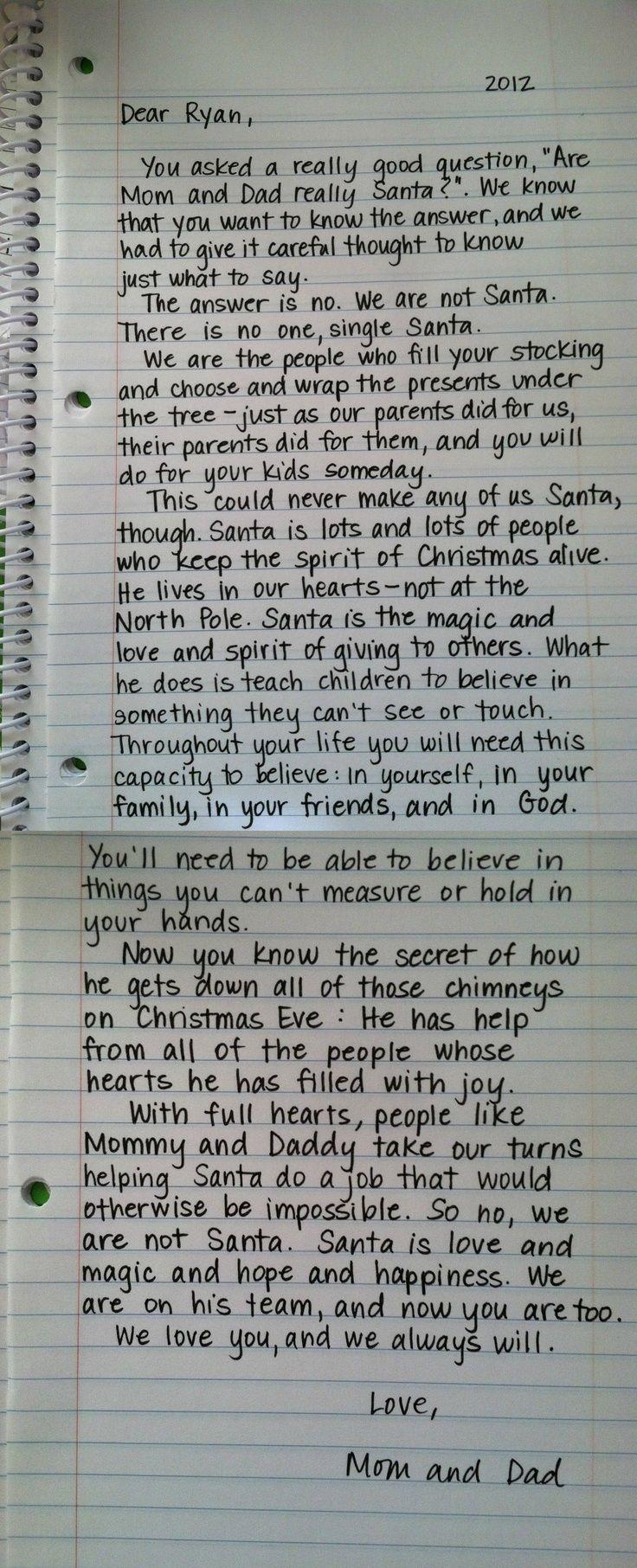 Perfect Santa explanation