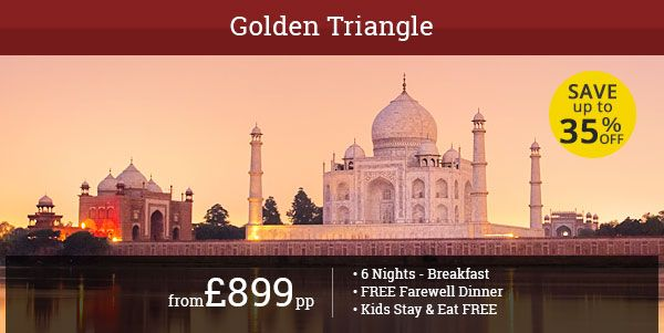 Check out this wonderful 6-night deal for India's Golden Triangle Tour of Delhi, Agra, and Jaipur with Away Holidays. Free food and stay for kids!!