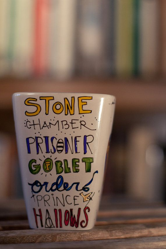 DIY Harry Potter Mug. make this yourself with sharpies and bake for 30 mins at 350 degrees