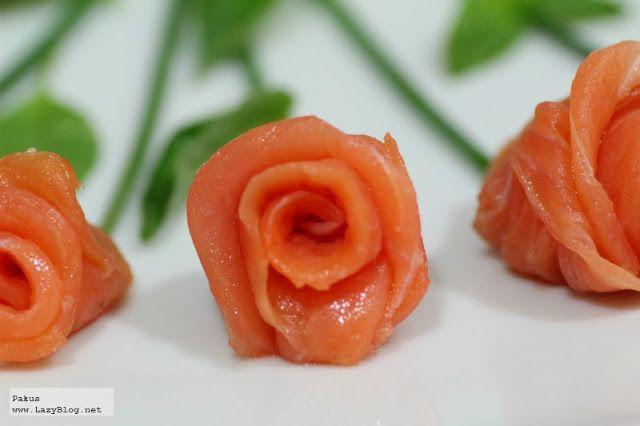 Lazy Blog: Cómo hacer un ramo de rosas de salmón ahumado. Receta