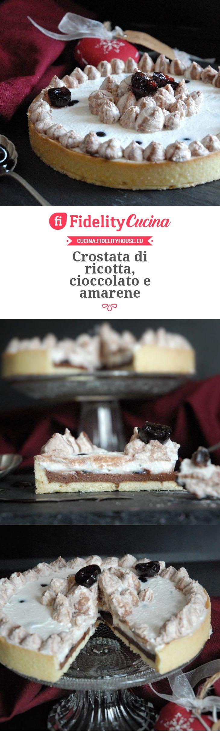 Crostata di ricotta, cioccolato e amarene