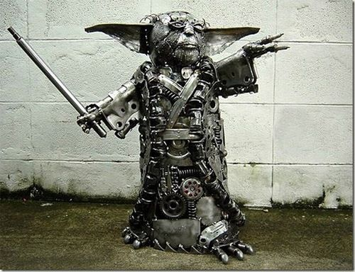 Scrap Metal Yoda - I want one!