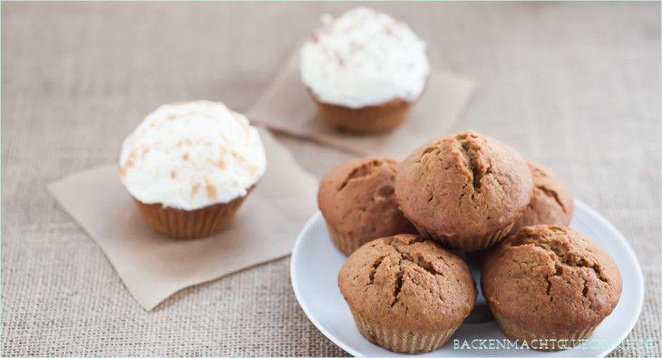 Cupcakes mit Kürbispüree und Zimtfrosting