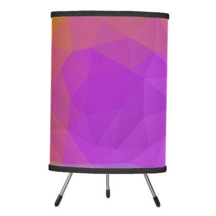LoveGeo Abstract Geometric Design - Galaxy Worlds Tripod Lamp - custom diy cyo personalize gift idea