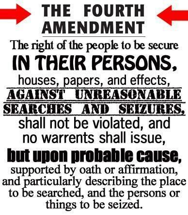 4th: This picture is a good resource because it tells you exactly what the forth amendment is in a short amount of words,