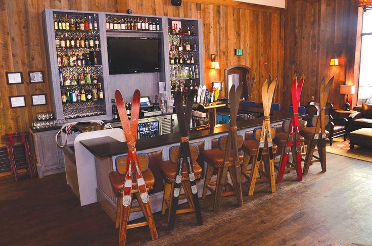 love these ski bar stools!