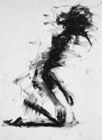 Clara Lieu. I love the dream-like quality of this, just abstract enough. The person looks like they are in a state between consciousness and unconsciousness, falling to the ground