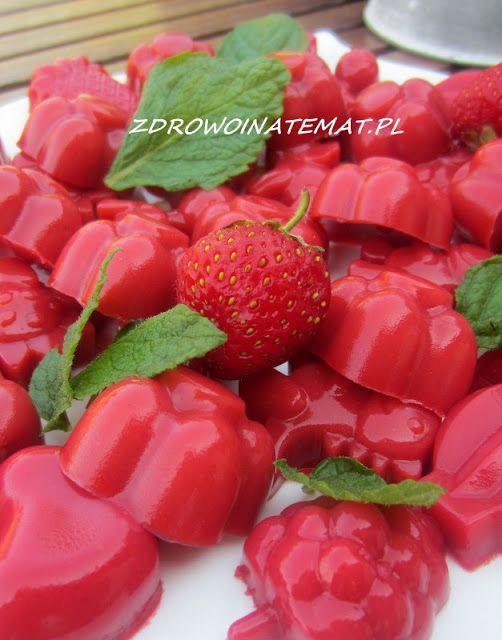 Zdrowo i na temat...: Domowe ŻELKI TRUSKAWKOWE - BEZ CUKRU BEZ ŻELATYNY - zdrowe słodycze