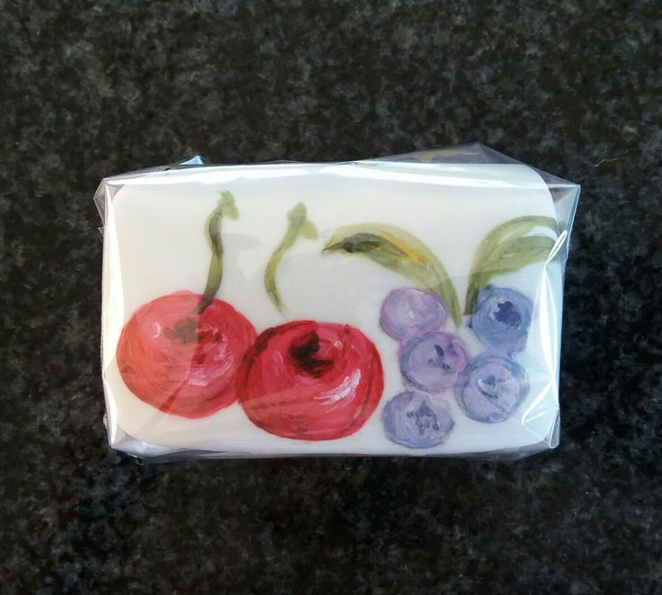 Individual painted fruit cakes - handy little Christmas gifts.