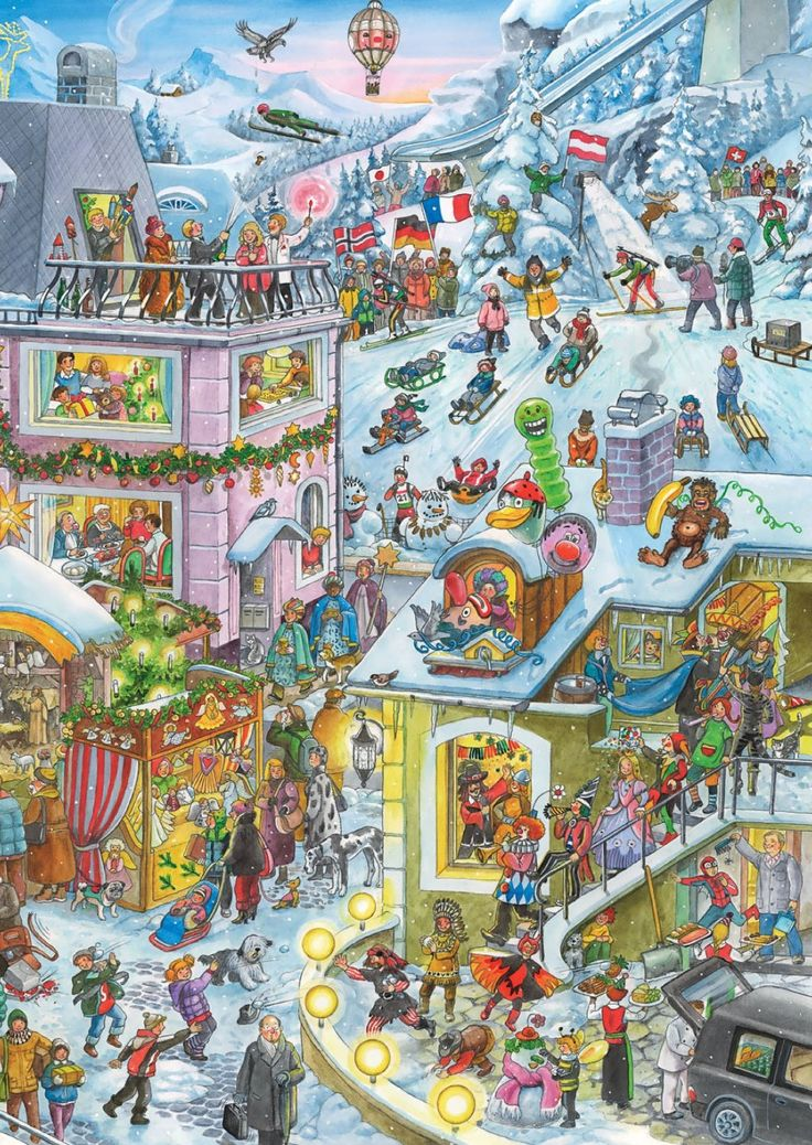 Wimmelbild ADVENT