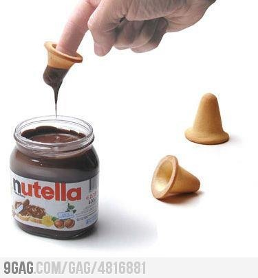 Finger biscuit by Paolo Ulian ( I would Use it as Mini cups to get even more nutella)