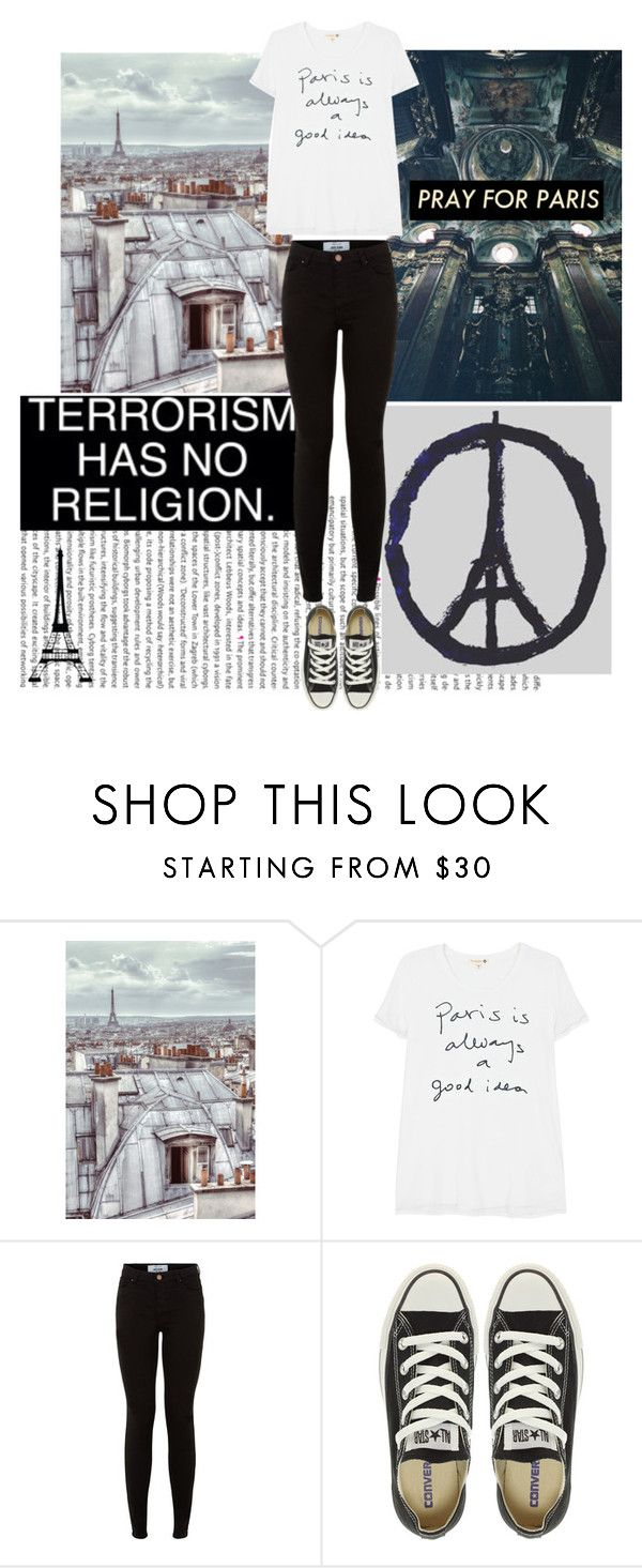 """""""Pray For Paris"""" by maria-roxanne ❤ liked on Polyvore featuring 1Wall, Sundry, Converse, Dot & Bo, prayforpeace and prayforparis"""