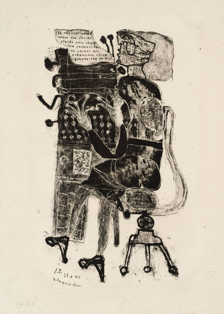 spectrumvivace: Jean Dubuffet, Typist [from 'Matter and Memory'] 1944, published 1945