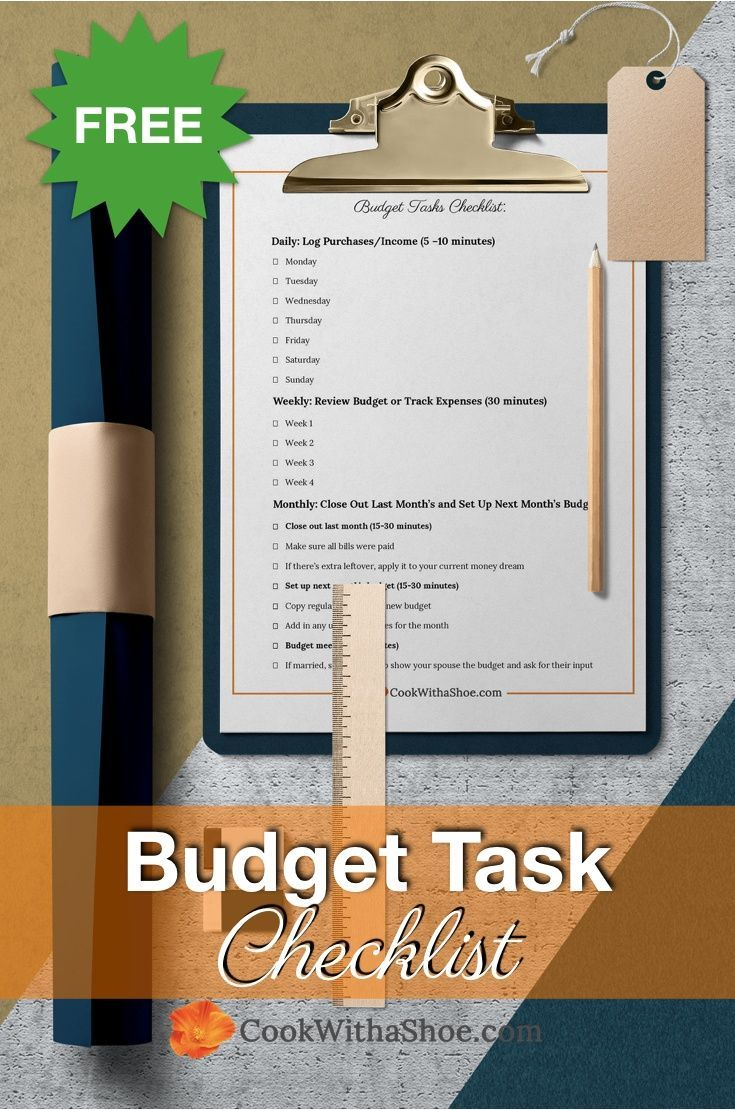 Consistency is the greatest key to a remarkable budget. That's why Financial Expert Charissa created a free budget task schedule for you to help stay consistent!  | Cook With a Shoe