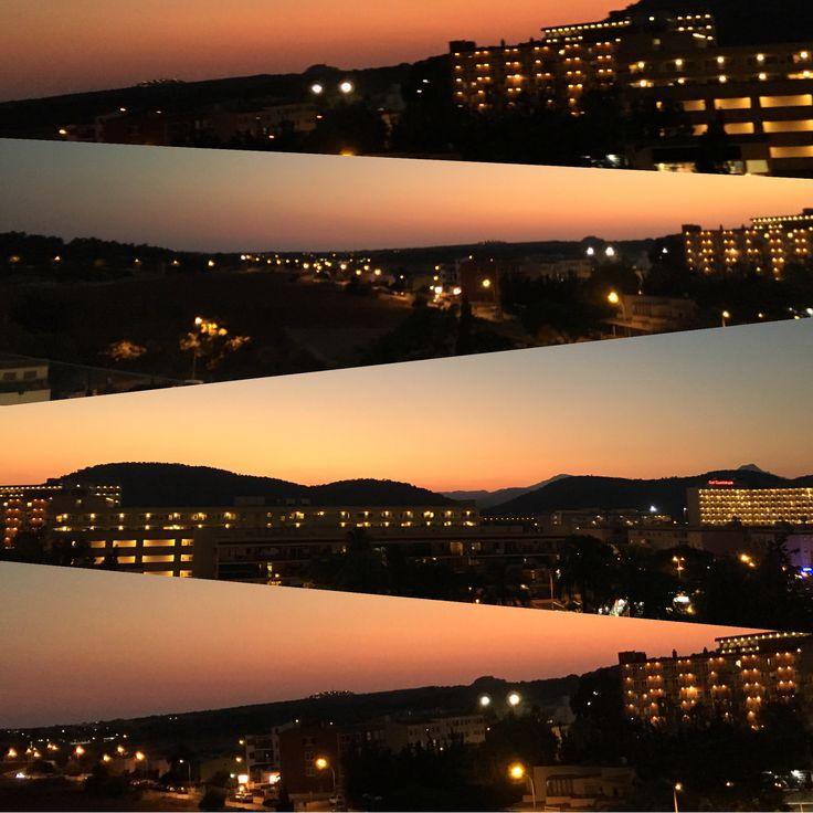 Magnificent Sunset from the balcony of Solbarbados Hotel. Mallorca, Spain #Godsbeauty #Naturebeauty