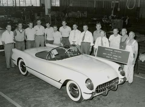 The First Chevrolet Corvette June 30,1953 .