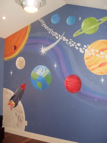 Fun bedroom wall mural...wish i could paint like this!!!