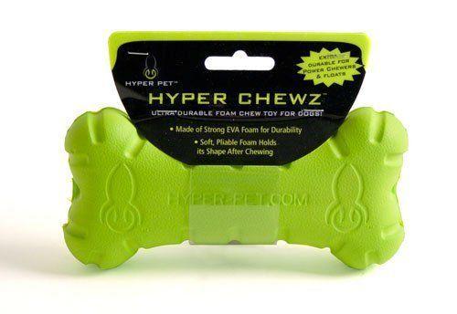 Hyper Pet Chew Bone Dog Chew Toys Durable Dog Toys EVA Foam Green Dog Toy New #HyperPet